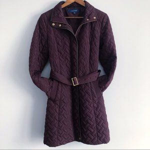 COLE HAAN Signature Quilted Zip front Coat Jacket